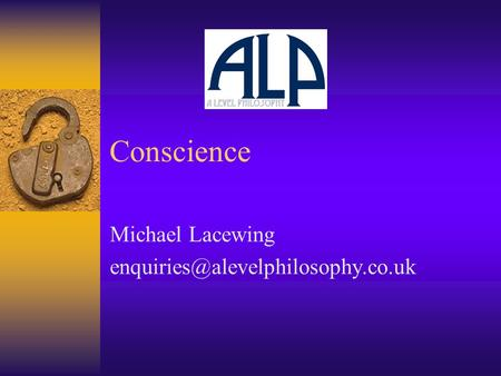 Conscience Michael Lacewing
