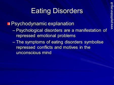 psychology biological explanation of eating The biology behind binge eating date: may 1, 2013  lead author and professor of psychology but this study suggests that biological factors likely contribute as well, since female rats do not .