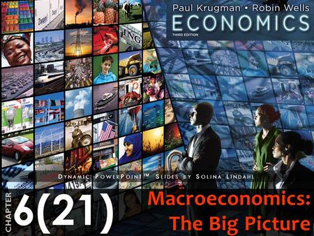 6(21) CHAPTER D YNAMIC P OWER P OINT ™ S LIDES BY S OLINA L INDAHL Macroeconomics: The Big Picture.