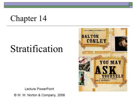 Stratification Chapter 14 Lecture PowerPoint © W. W. Norton & Company, 2008.