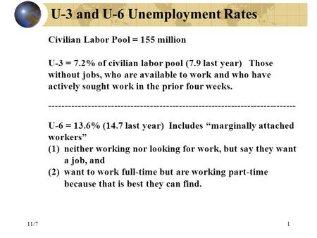 U-3 and U-6 Unemployment Rates