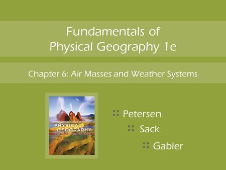 Fundamentals of Physical Geography 1e