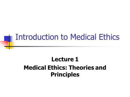 an introduction to nursing ethics Lecture notes for professional nursing students introduction to professional nursing and ethics amsale cherie ato hussen mekonen tsehay shimelse.