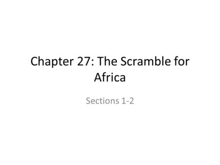 dbq ap world european scramble for africa Innovations in visual and performing arts were seen all over the world like renaissance painting ap insight : challenge scramble for africa.