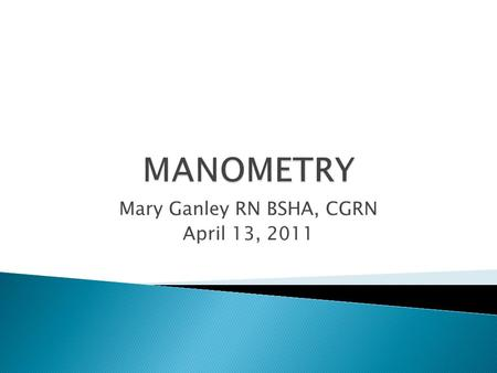 Mary Ganley RN BSHA, CGRN April 13, 2011.  List indications and contraindications for manometry procedures involving esophagus, stomach, small bowel,