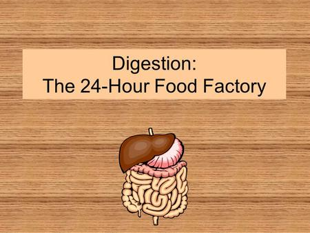 Digestion: The 24-Hour Food Factory. Digestion: A two-part process Mechanical digestion takes place in your mouth and your stomach. Your teeth break food.