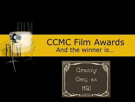 CCMC Film Awards And the winner is…. YVONNE BARTLEY.