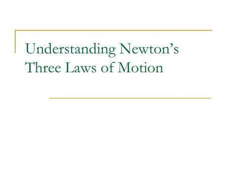 Understanding Newton's Three Laws of Motion. Which Experiences the Greater Force? The Kicker? The Football? (Trick Question!)