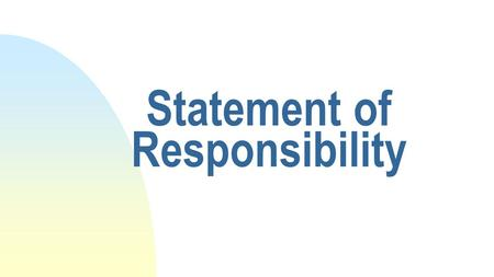 Statement of Responsibility. Title Statement – MARC tag 245 Identifies the resource, including the title proper, other titles, numbering, part titles,