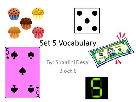 Set 5 Vocabulary By: Shaalini Desai Block 6. Counter POS: verb Synonym: backtalk Antonym: agree Definition: to say or do something in opposition to something.