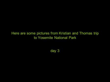 Here are some pictures from Kristian and Thomas trip to Yosemite National Park day 3.