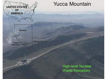 Yucca Mountain High-level Nuclear Waste Repository.
