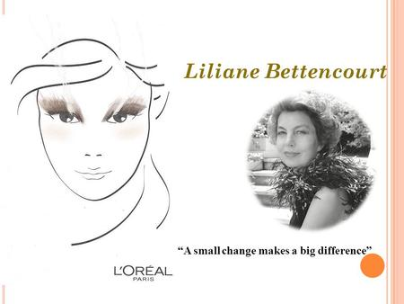"Liliane Bettencourt ""A small change makes a big difference"""