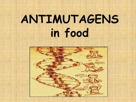ANTIMUTAGENS in food. FOOD Foods are comlex mixtures containing both carcinogenic and anticarcinogenic substances. It is our choice – HEALTHY x NOT HEALTHY.