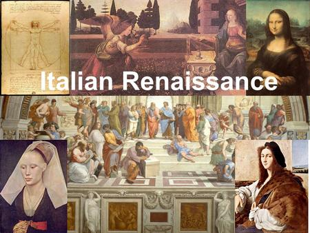 Italian Renaissance. Contributions to the end of Medieval Europe The Crusades –Brought new goods from the East to Europe, stimulating a rebirth in trade,