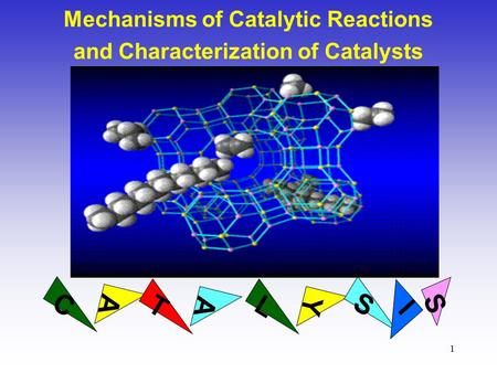 1 Mechanisms of Catalytic Reactions and Characterization of Catalysts AY C A TL S I S.