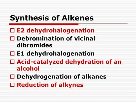 Unit Synthesis of Alkenes