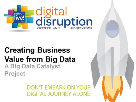 Creating Business Value from Big Data A Big Data Catalyst Project.