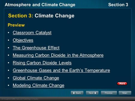 Section 3: Climate Change