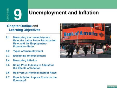 9 Unemployment and Inflation Chapter Outline and Learning Objectives