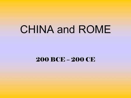 the differences and similarities between han china and imperial rome