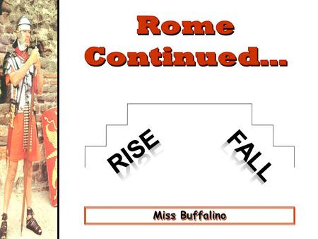 Miss Buffalino. Rome's Early Road System Roman Roads: The Appian Way.