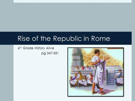Rise of the Republic in Rome