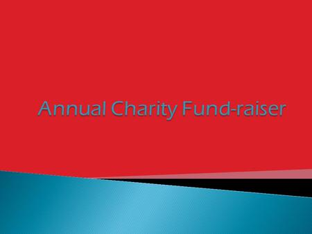  What  Why  How  Who  When  Goal  Help!  15 th annual charity fund-raiser.