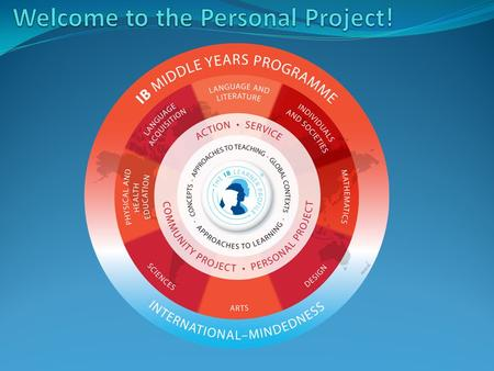 What is the Personal Project? It's a project that all students do in the 10 th grade. Students get to choose exactly what they want to do. Students can.