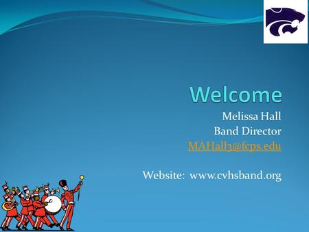 Melissa Hall Band Director Website: