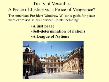 A Peace of Justice vs. a Peace of Vengeance?