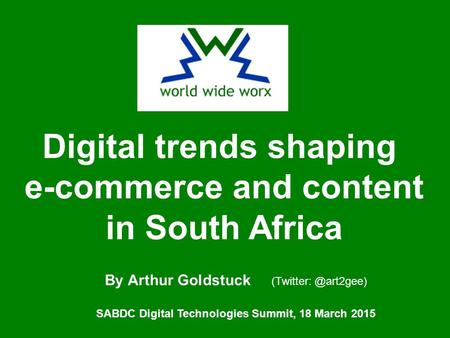 Digital trends shaping e-commerce and content in South Africa