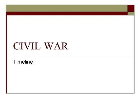 civil war unit test essay