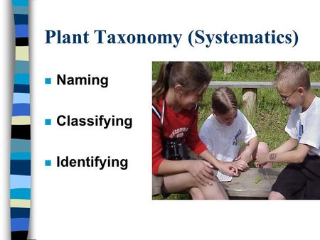 Plant Taxonomy (Systematics)