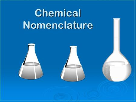 Chemical Nomenclature. Learning Targets Write name & write symbol of selected elementsWrite name & write symbol of selected elements Write name & write.