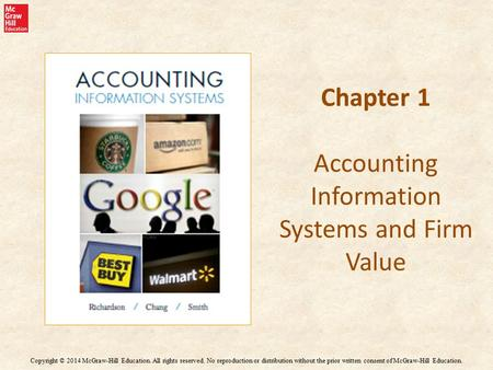 Chapter 1 Accounting Information Systems and Firm Value