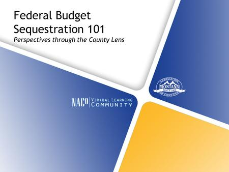 Federal Budget Sequestration 101 Perspectives through the County Lens.