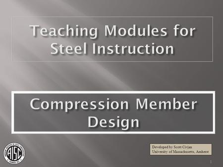 Compression Member Design