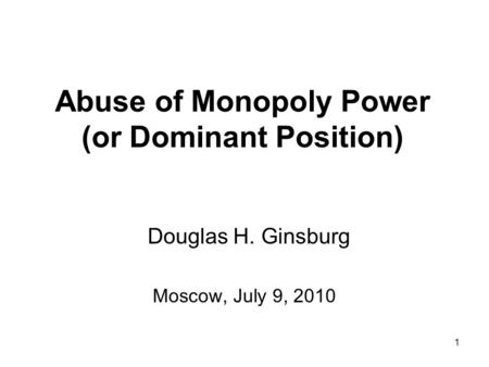 abuse of monopoly power essay This essay will discuss the monopoly of petroleum by the  - monopoly power when a firm is the sole  the need to legislate against its abuse of power.
