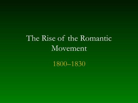 an introduction to the history of the romantic period of music Introduction to classical music  we'll expand our focus to look at the orchestra  as a whole during the romantic period  at first, on the true story of his love for.