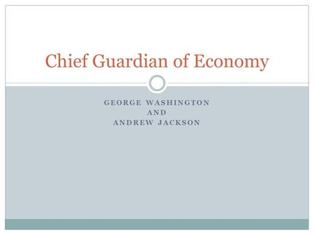 Chief Guardian of Economy