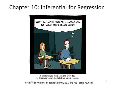Chapter 10: Inferential for Regression  1.