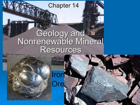 Geology <strong>and</strong> Nonrenewable Mineral Resources