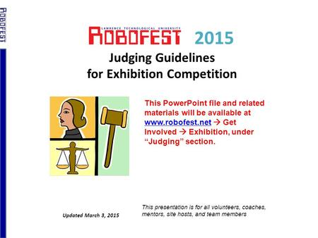 2015 Judging Guidelines for Exhibition Competition