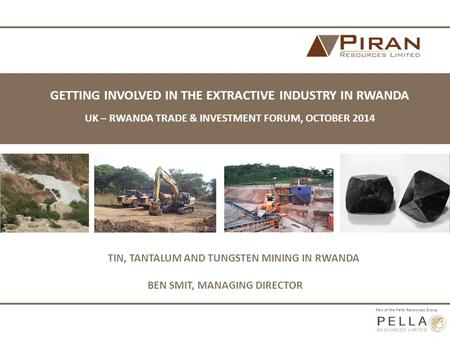 TIN, TANTALUM AND TUNGSTEN MINING IN RWANDA
