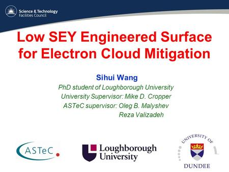 Low SEY Engineered Surface for Electron Cloud Mitigation