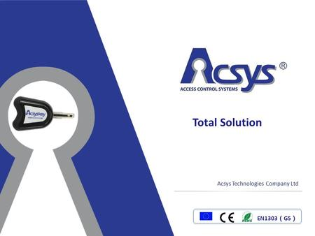 Total Solution Acsys Technologies Company Ltd EN1303(G5)