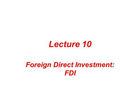 Foreign Direct Investment in Ireland   IDA infographic   Software     JFC CZ as Investment in emerging market or the effects of foreign direct investment  FDI in emerging
