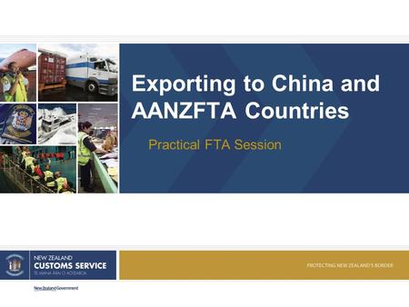 Exporting to China and AANZFTA Countries Practical FTA Session.