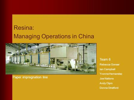 Managing Operations in China